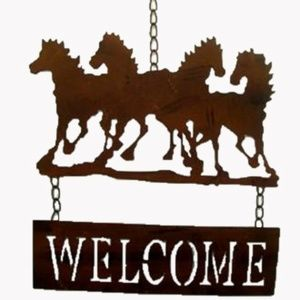 Metal Tractor Welcome Sign Wall Decor NWT Decor Maison 3025